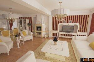 Design interior living clasic de lux casa - Bucuresti