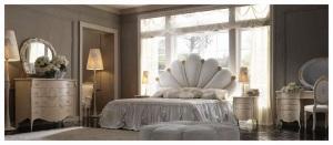 Mobila clasica de lux paturi dormitor - Mobila italiana Constanta| mobila-italia-pat Capri.