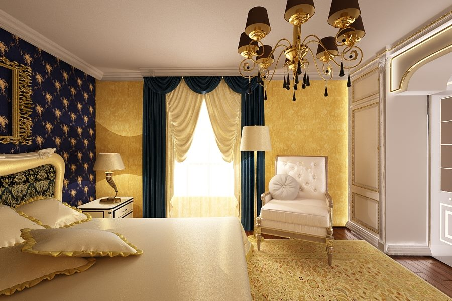 Nobili Design | Amenajari interioare living si dormitor clasic | Firma amenajari interioare in Bucuresti